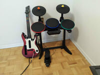 Wii Drum and Guitar set