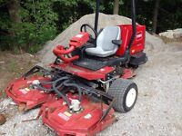 Toro 3500d sidewinder  kubota 35 hp turbo diesel low hours