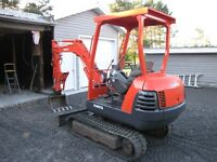 Kubota KX-61-2 diesel excavator with 2500 hrs