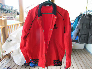 columbia chrome windbreaker style jacket  size l