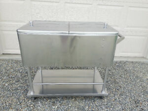Stainless Steel Cooler on Wheels