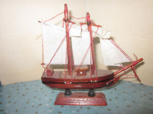 Hand Crafted Miniature Wooden Model Sailing Ship