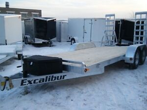 2017 EXCALIBUR GALVANIZED 16'- 5 TON LOW BED EQUIP FLOAT TRAILER
