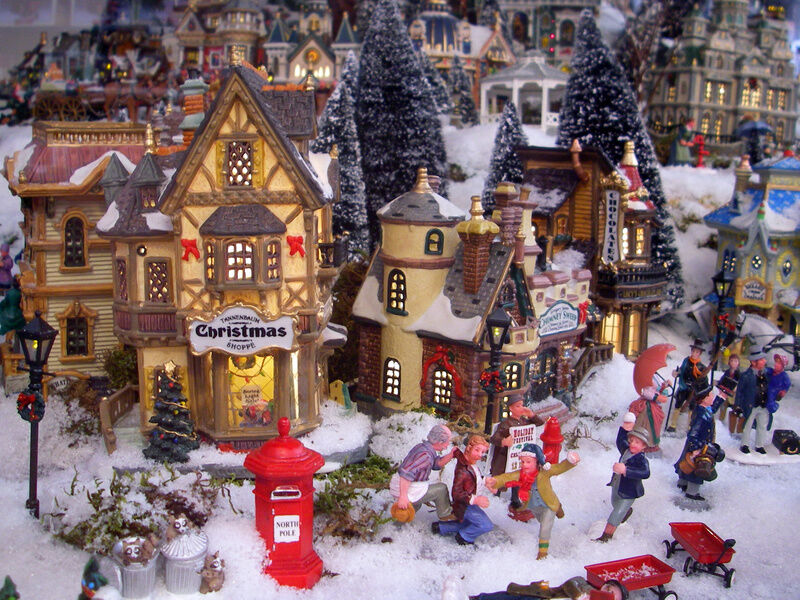 many people enjoy the thought so much that they put a considerable amount of thought and effort into arranging a christmas village in their home in an - Miniature Christmas Town Decorations