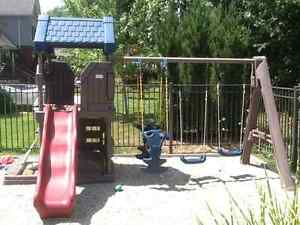 LITTLE TYKES Climber with swings, slide, and sandbox!