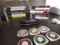Psp 32gb 21 games carry case and extras