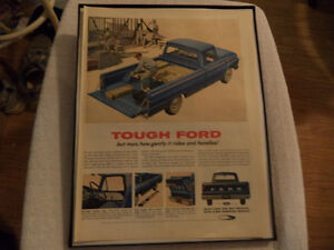 OLD CLASSIC CAR ford & chev PICKUP ADS