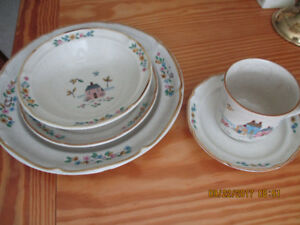 large set of dishes-46 pieces:  plates, bowls, cups & saucers