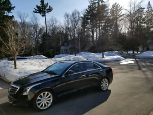 2013 Cadillac ATS luxury car on fiber/red leather interior+ new