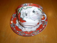ORIENTAL CUP AND SAUCER