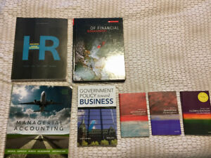 Variety of Business Textbooks