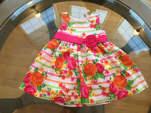 NEW Cinderella Floral Dress, with tulle underskirt 18 month