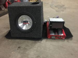 Sony radio DVD payer sub and amp 600 watt