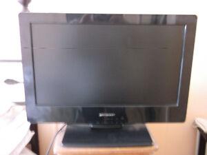 T.V DVD incorporé à la t.v 19 pcs HDMI + support t.v au mur