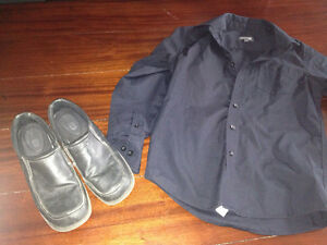 Boys dress clothes and shoes