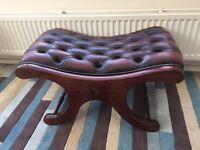 Vintage saddle footstool