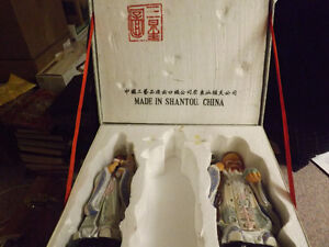 Vintage Chinese characters of Fuk and Sau with case.Made n China