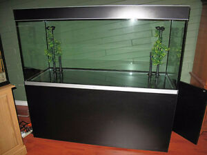 130 Gallon Aquarium Fish tank with stand and more
