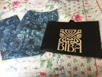 Biba trousers size 14 and bag