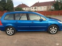 PEUGEOT 307 s HDI ESTATE 55 PLATE..EXELLENT CONDITION..PX/SWAPS
