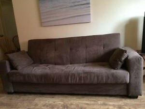 Couch/hide a bed and auntiqued wicker love seat Kingston Kingston Area image 1