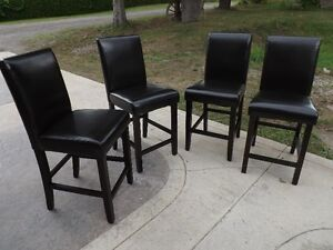 Brand New Leather Parson Chairs - 4