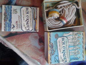 box of knot and rope tying
