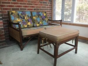 Vintage cane patio set