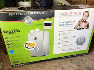 NEW RHEEM- High efficiency indoor tankless gas water heater