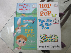 4 Beginner Reader Books - Hop on Pop, No Mail, In the Zoo