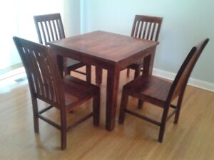Solid Rosewood 5 Piece Dining Set