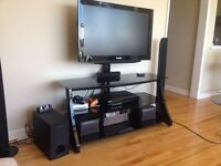 Glass Top Television Stand