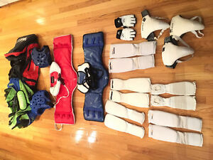 Assortment of Sparring gear
