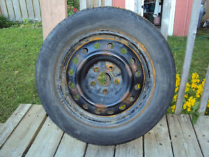 4 Steel Rims 6.5 x 16 and Bolt pattern is 5 x 114.3 + 4 Tires