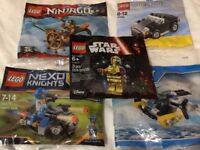100 % Genuine Lego Poly Bag Collection (Set of 5)