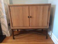 Oak hi fi cabinet