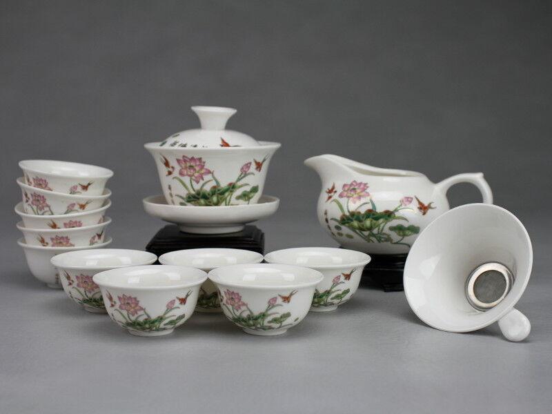 Chinesisches Teeservice Porzellan mit Gaiwan