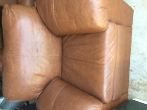 Faux Chocolate Brown Leather Couch Set