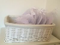 Wedding flip flops x 9 pairs and basket