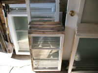 old wooden windows, 15 each obo