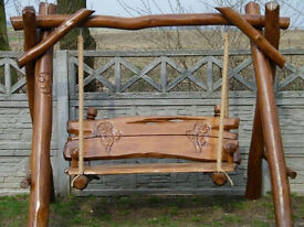 Oak solid wood Porch Garden swing