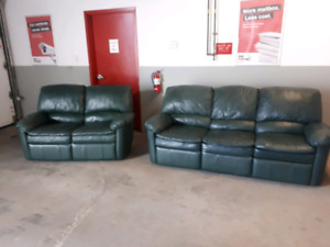 Leather Recliner Set **Delivery Included