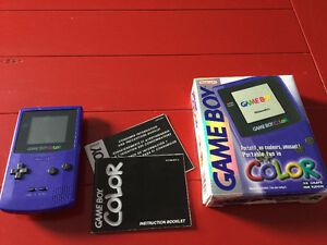 Purple gameboy colour with original box