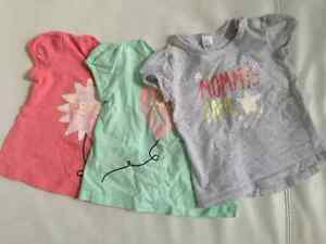 Shirts for baby girl, size 9-18 months