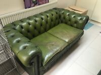 Green Chesterfield Two-Seat Sofa