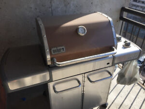 Weber BBQ with copper lid