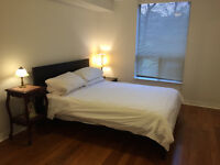 Cozy & quiet 870 sq. ft, two bedroom & two bath fully furnished
