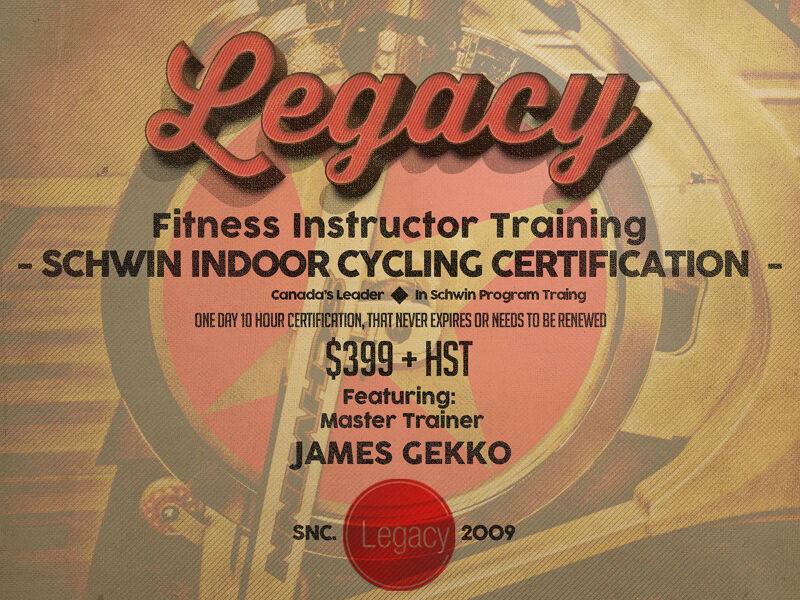 Schwinn Spin Instructor Certification 439 Bootcamp Cpr
