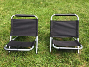 Low-back Concert Folding Chairs - for the pair