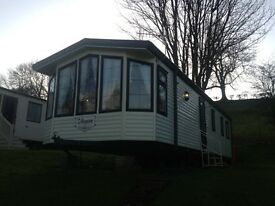 Static caravan for sale cheap double glazed and central heated sited on the stunning Stanhope view